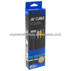 AV to RCA Audio Video Cable TV Lead For Sony Playstation PS PS2 PS3