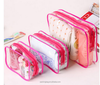 Eco friendly cheap Custom transparent waterproof zip bag family travel set