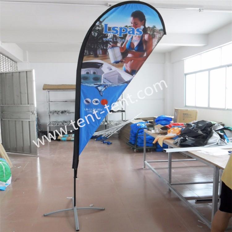 Lágrima pólo de bandeira ao ar livre o seu próprio design da bandeira do cabo flexível