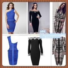 de alta calidad vendaje 2015 vestido