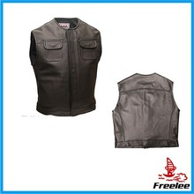 Biker leather vest,mens leather biker vest