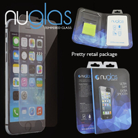 Nuglas 0.3mm for iPhone 6s screen protector sheet tempered glass with customized packaging