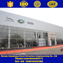 Custom fabricated steel structure car parking with hot dipped galvanized