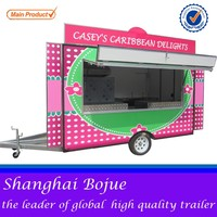 FV-55 food exporter china food vending cart with wheels cheap catering food cart with