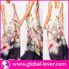 2015 Women new sexy fashion chiffon maxi dress , Wholesale Simple Long Dress