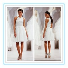 TW101 New Fashion Best Quality Appliqued Bridal Gown Woman Short Lace Wedding Dress