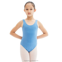 2015 best seller hign back cotton children tank leotard