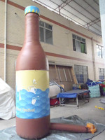 huge with free printing inflatable beer bottle model for promotion or event