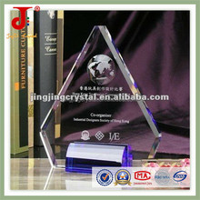 2015 Free Engraving LOGO Wholesale Plaque& Crystal Blank Clear Carving Crafts