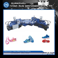 EASILY OPERATE PVC 3 SANDAL SLIPPER SOLE INJECTION MOULDING MACHINERY