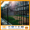 Black powder coated security residential fence