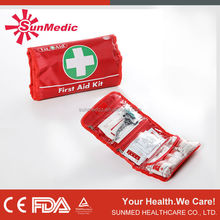 CE and FDA approved military medical emergency mini first aid kit for travel or sport