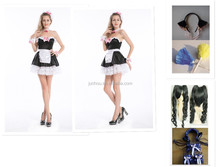 Alice French Maid Princess Cosplay Halloween uniform Party Fancy Dress Outfits
