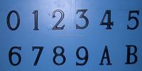 Zinc alloy apartment door number