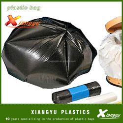 High capacity star-sealed plastic garbage bag on roll