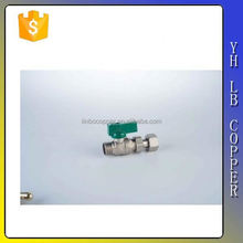 China super supplier 90 degree angle brass ball gas valve LB-B1184