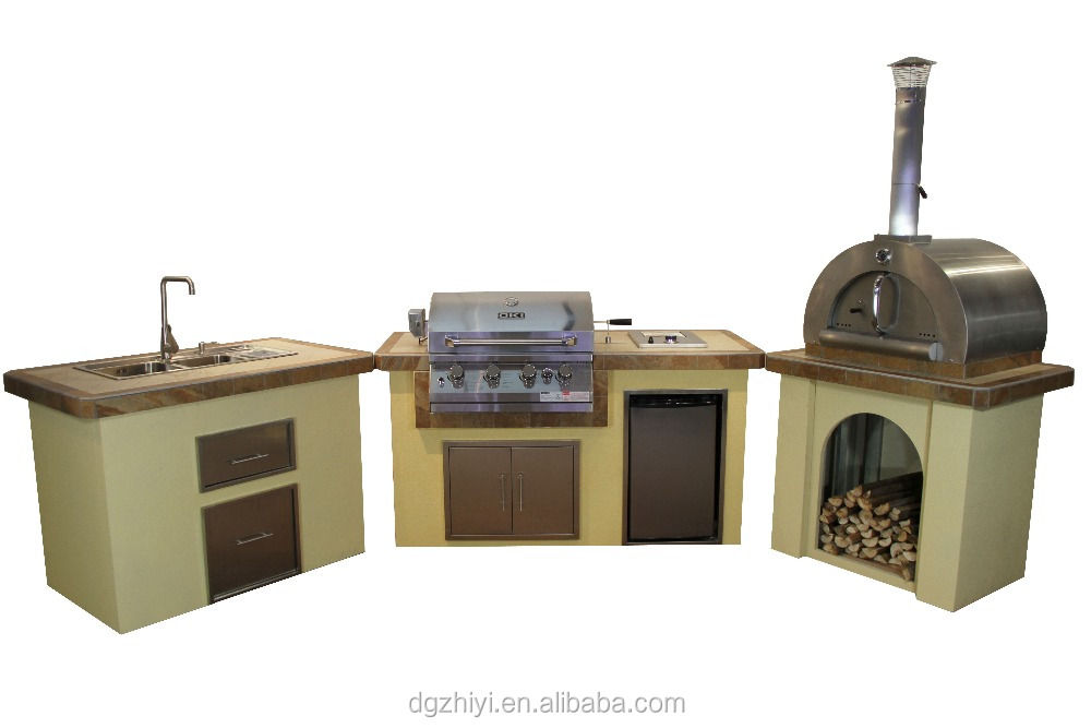 Outdoor kitchen island combination for sale modular for Outdoor kitchens for sale