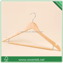 wooden pants hanger with locking bar,wooden suit hanger with locking bar,wooden hanger with fuction