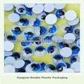 Azul wiggly googly movible moviendo los ojos/de pestañas muñeca bear decoración