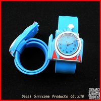 Silicon Slap Wristband promotion Gift Watch for Children Kids