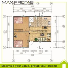 Prefabricated modular moblie house plan with light steel structure