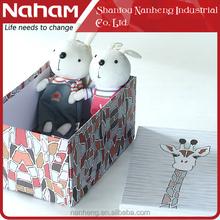 NAHAM 3pcs Giraffe Cardboard Rectangle Folding Paper Box