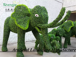 wholesale artificial animal topiary elephant family for home park decoration made in guangzhou