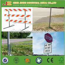 Perforated square traffic sign posts