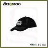 Black custom logo embroidery & contrast stitches basic baseball cap