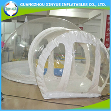Hot sale inflatable pvc clear igloo long term living tent