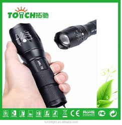 5000pcs only Factory Outlet 10W Cre e XML-T6 led powerful rechargeable led torch Long Range Zoomable Rechargeable Torch Light