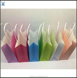 Popular shopping bag paper bag & shopping color paper bag &shopping gift paper bag