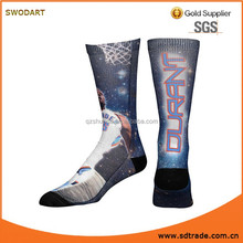full polyester player print socks / sublimation socks / basketball printed socks