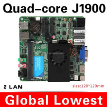 New J1900 motherboard mini assemble mainboard 2 usb3.0 Rs 232 com port, 2 Ethernet port