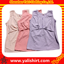 High quality custom women wholesale soft plain nursing top
