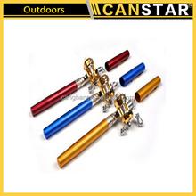 High quality mini type telescoping fishing pole, telescopic fishing rod,pen fishing pole