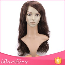 Barbara accept low MOQ wholesale top grade 100% free shedding curly wig for black women, the free wig catalogs