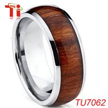 chino joyería moda el carburo de tungsteno anillo,el anillo de madera