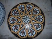 Marble mosaic mural, tile round mosaic medallion floor patterns