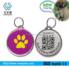 factory wholesale blank pet tags epoxy coated pet id tags engraved qr code 2015 metal dog tag