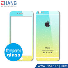 Gradient Color Tempered Glass Screen Protector Film for iPhone 6 5 Colors Available