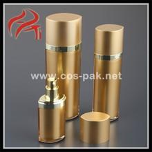 5oml attractive gradient golden skin care cosmetic bottle top dispenser liquid for female