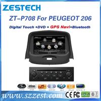 ZESTECH car gps navigation touch screen dvb-t tv dvd player car dvd radio for peugeot 206