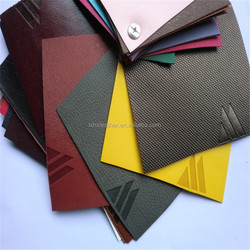 High quality logo printed color change pu leather for gift packaging HX501