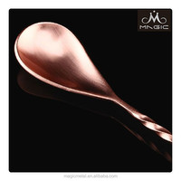 44cm Copper plated teardrop stainless steel barspoons bar tools good price barware manufacturer