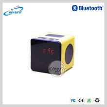 New High Quality Bluetooth 3.0 Wireless Portable FM LED Cube Mini Speaker