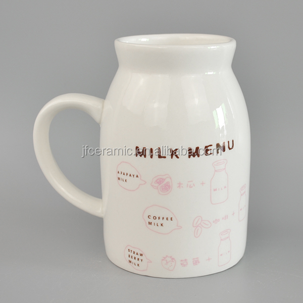 Milk Pot Shape Ceramic Cup Buy Animal Shaped Cups White