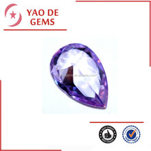 9*12mm Pear and Checkboard Cut Lavender Synthetic Cubic Zirconia Gems Wholesale