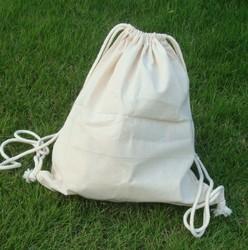 factory audit eco backpack canvas cotton drawstring bag