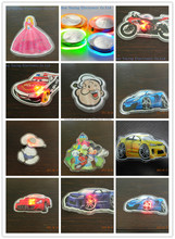 Wholesale Kids Cartoon Pattern 3D PVC Patch Led Flashing Light For Clothes